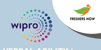 Wipro Verbal English Questions and Answers