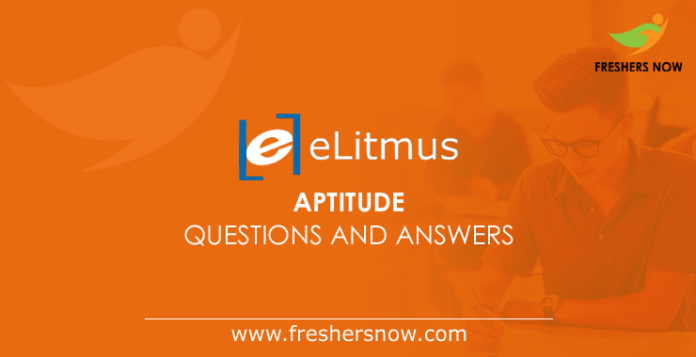 eLitmus Aptitude Questions and Answers