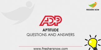 ADP Aptitude Questions and Answers