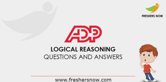 ADP Logical Reasoning Questions and Answers