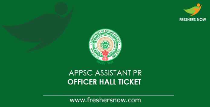 APPSC Assistant Public Relations Officer Hall Ticket 2019