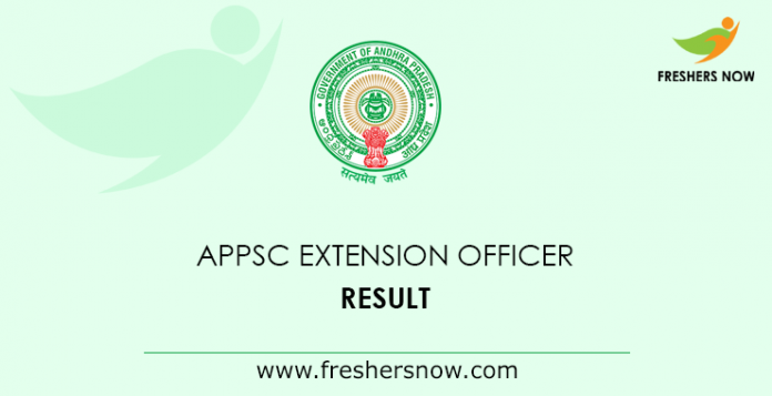 APPSC Extension Officer Result 2019