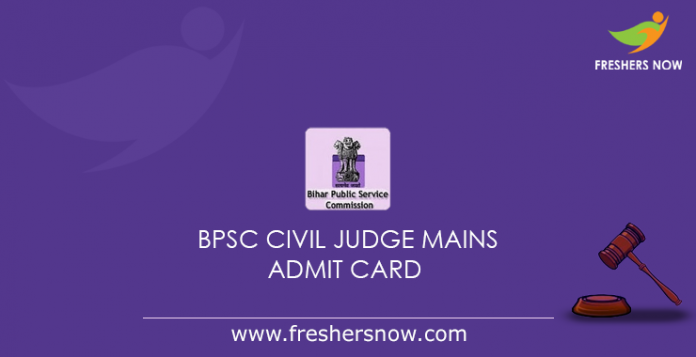 BPSC Civil Judge Mains Admit Card