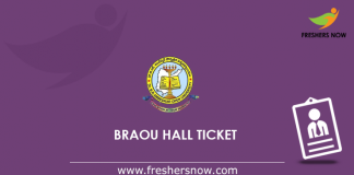 BRAOU Hall Ticket 2019