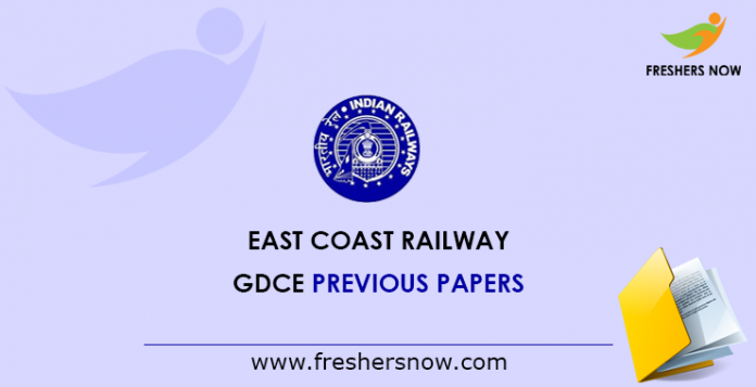 East Coast Railway GDCE Previous Papers