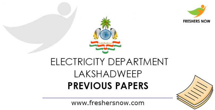 Electricity Department Lakshadweep Previous Papers
