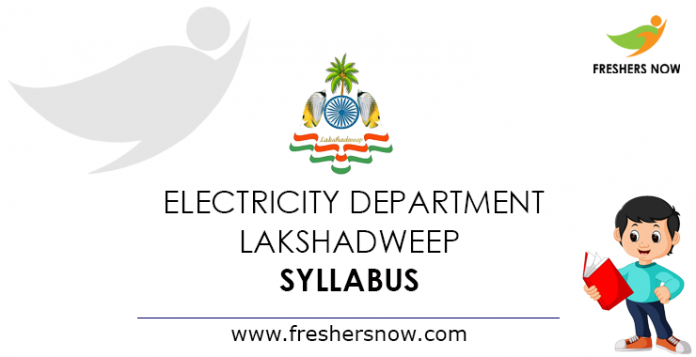 Electricity Department Lakshadweep Syllabus 2019