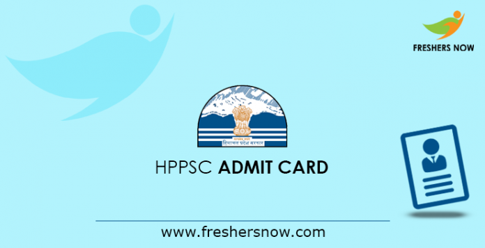 HPPSC Admit Card 2019