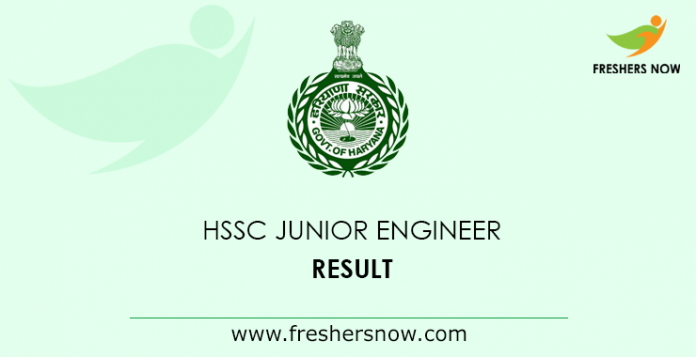 HSSC Junior Engineer Result 2019