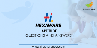 Hexaware Aptitude Questions and Answers