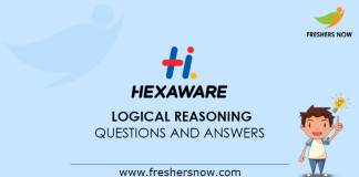 Hexaware Logical Reasoning Questions and Answers