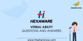 Hexaware Verbal Ability Questions and Answers