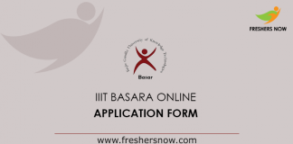 IIIT Basara Online Application 2019