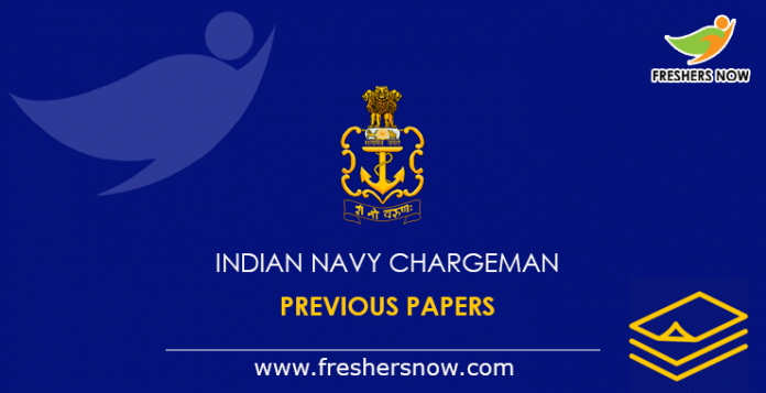 Indian Navy Chargeman Previous Papers
