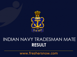Indian Navy Tradesman Mate Result 2019
