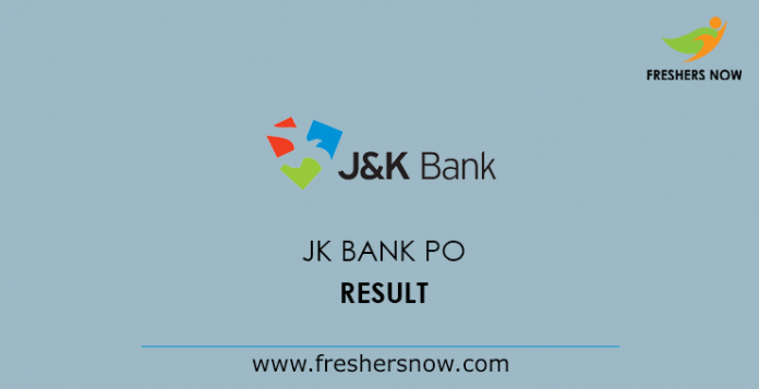 JK Bank PO Result 2019