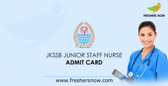 JKSSB Junior Staff Nurse Admit Card 2019