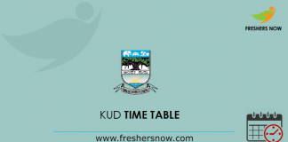 KUD Time Table 2019
