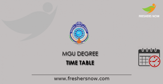MGU Grades Time Table