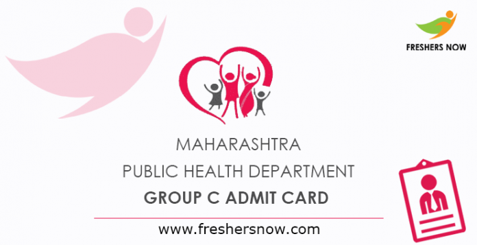 Maharashtra Public Health Department Group C Admit Card 2019