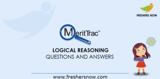 MeritTrac Logical Reasoning Questions and Answers