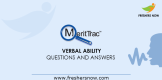 MeritTrac Verbal Ability Questions and Answers