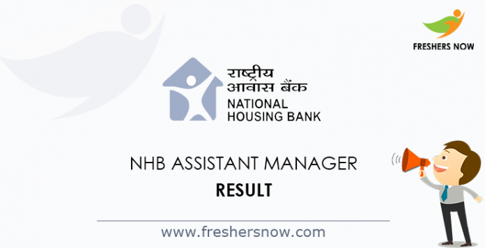 NHB Assistant Manager Result 2019