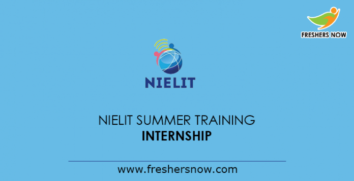 NIELIT Summer Training Internship 2019