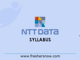 NTT Data Syllabus