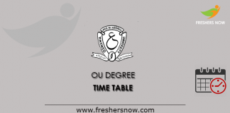 OU Degree Time Table
