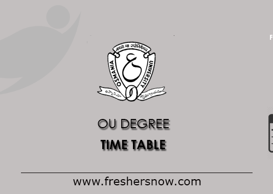 OU Degree Time Table 2019