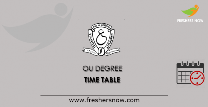 OU degrees time table