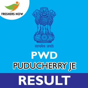 PWD Puducherry JE Result 2019