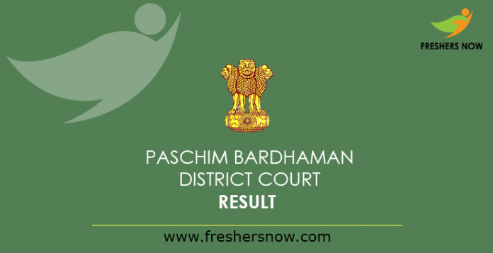 Paschim Bardhaman District Court Result 2019