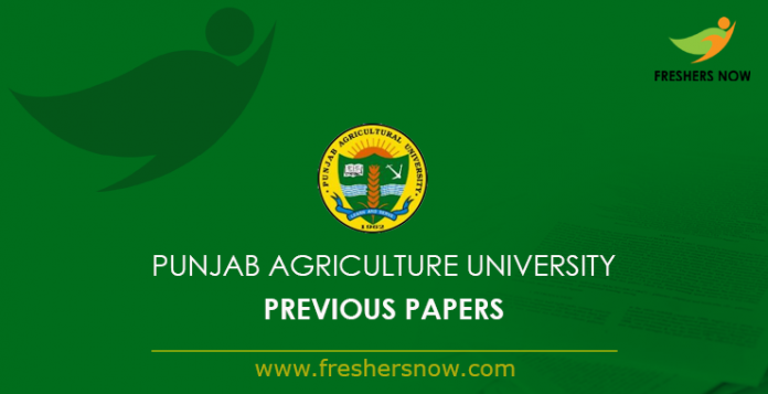 Punjab Agriculture University Previous Papers