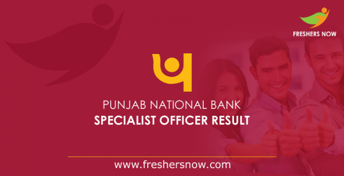 Punjab National Bank Specialist Officer Result 2019