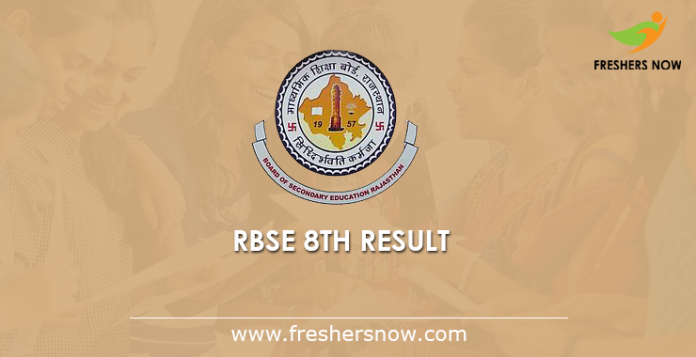 RBSE 8th Result 2019 Out | Rajasthan Board 8th Class Results Name Wise