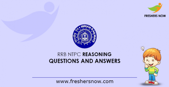 RRB NTPC Reasoning Questions and Answers