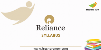 Reliance Syllabus