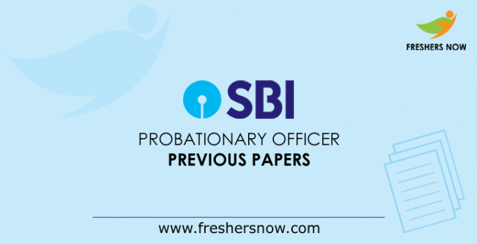 SBI Probationary Officer Previous Papers