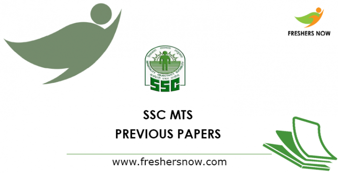 SSC MTS Previous Question Papers PDF | SSC Solved Papers