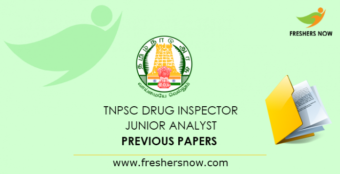 TNPSC Drug Inspector Previous Papers