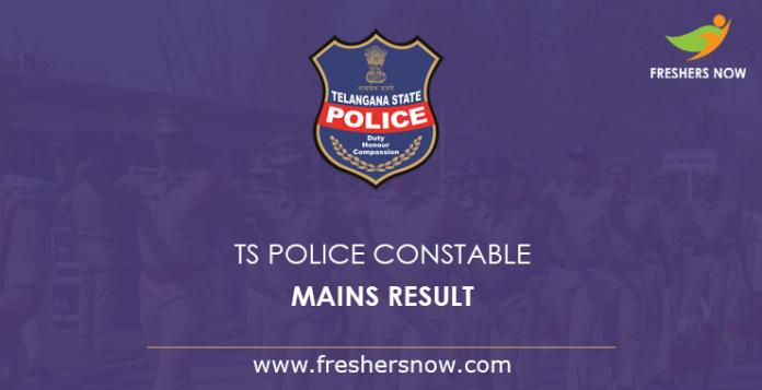TS Police Constable Mains Result 2019 | TSLPRB FWE Cut Off