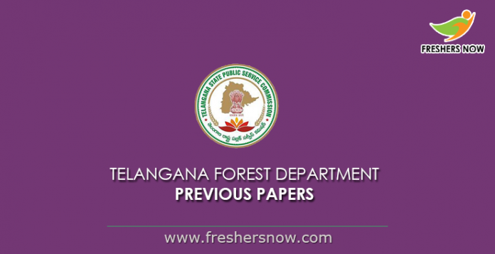 Telangana Forest Department Previous Papers