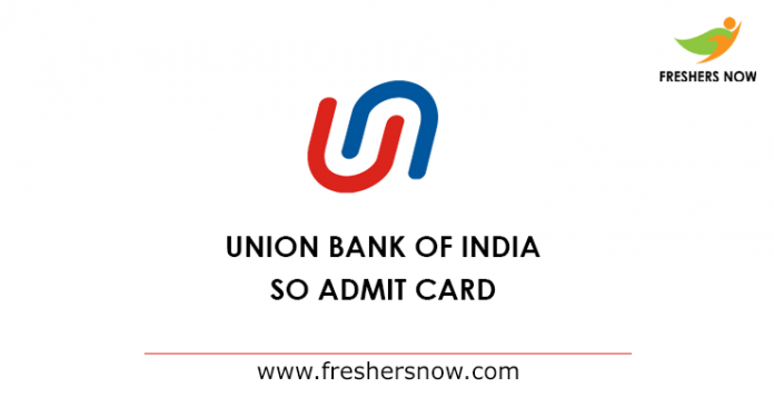 UBI Specialist Officer Admit Card 2019