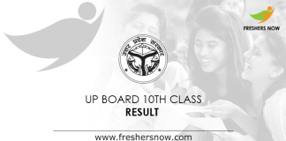 UP Board 10th Result 2019
