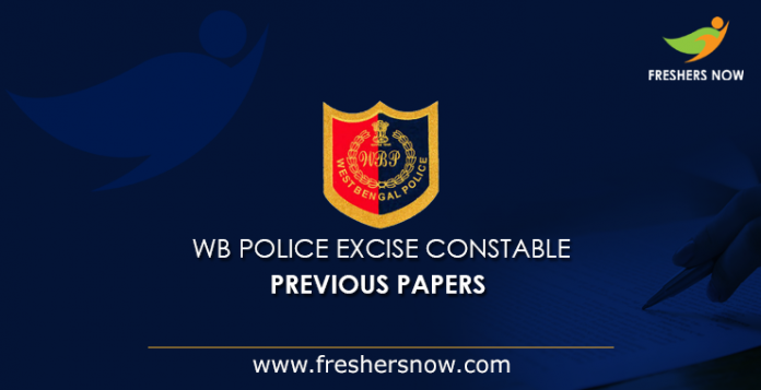 WB Police Excise Constable Previous Papers