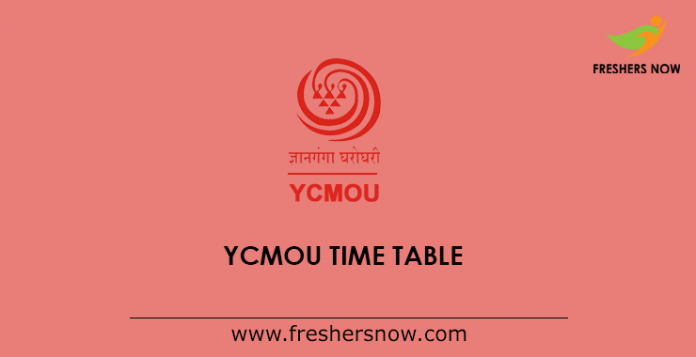 YCMOU Exam Time Table