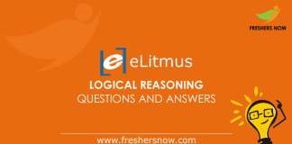 eLitmus Logical Reasoning Questions and Answers