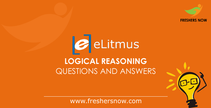 eLitmus Logical Reasoning Questions and Answers PDF For ...